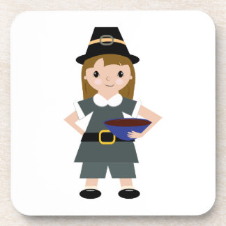 Thanksgiving Pilgrim Drink Coasters
