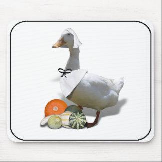Thanksgiving Pilgrim Duck Mouse Pad