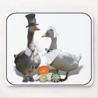 Thanksgiving Pilgrim Ducks Mouse Pad