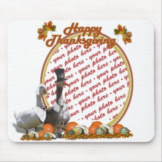 Thanksgiving Pilgrim Ducks Photo Frame Mouse Pad