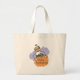 Thanksgiving Pilgrim Girl Jumbo Tote Bag