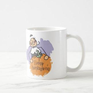 Thanksgiving Pilgrim Girl Coffee Mug