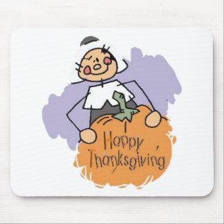Thanksgiving Pilgrim Girl Mouse Pad