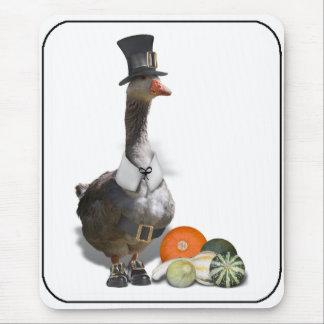 Thanksgiving Pilgrim Goose Mousepad