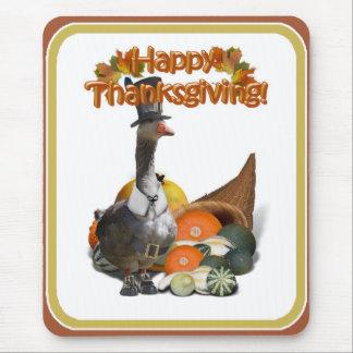 Thanksgiving Pilgrim Goose Mousepads