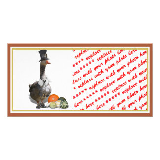 Thanksgiving Pilgrim Goose Photo Card Template