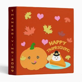 Thanksgiving Pilgrim Pumpkin Pie Binder
