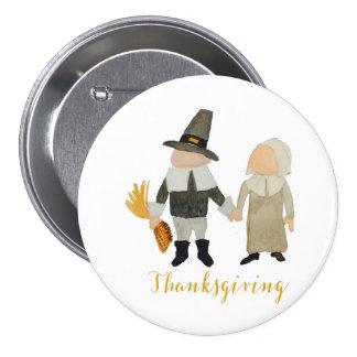 Thanksgiving Pilgrim Puritan Toddler Girl and Boy Pinback Button