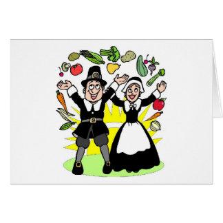Thanksgiving Pilgrims Card