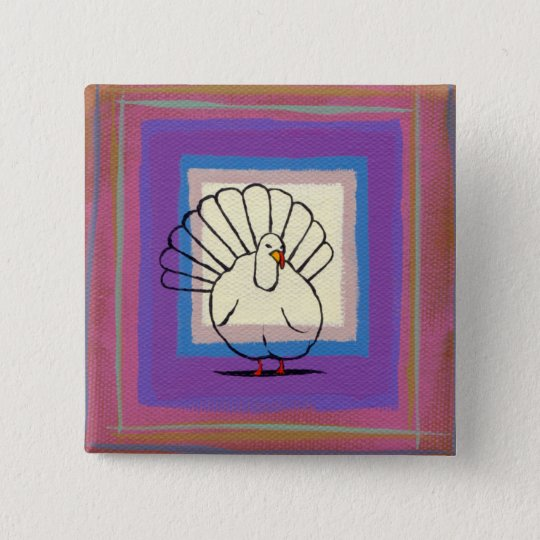 Thanksgiving pin turkey art unique colorful modern
