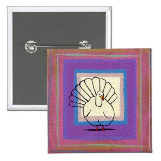 Thanksgiving pin turkey art unique colorful modern