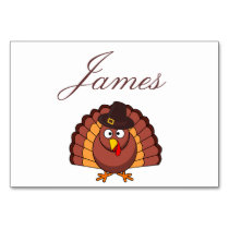 Thanksgiving Place Cards - Turkey With Hat