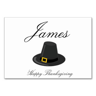 Thanksgiving Place Cards With Pilgrim Hat