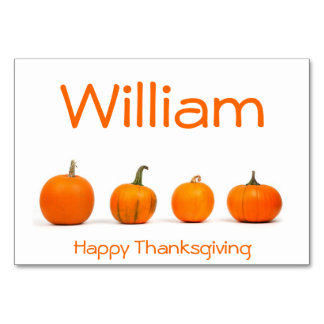 Thanksgiving Place Cards With Pumpkins Table Cards