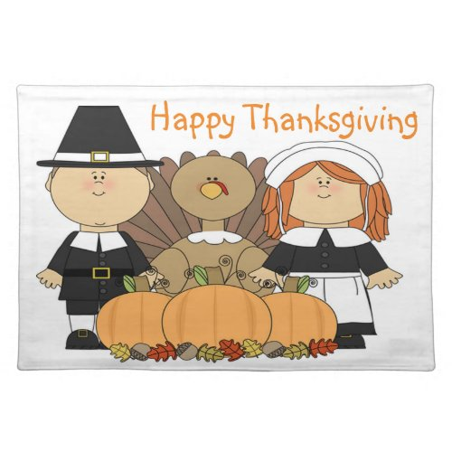 Thanksgiving Place Mat/Pilgrims Placemat