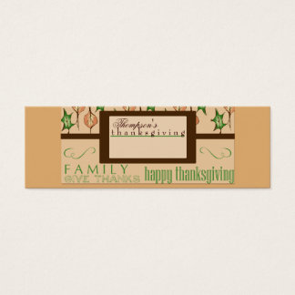 Thanksgiving placecards mini business card