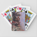 """Thanksgiving playing cards. bicycle playing cards<br><div class=""""desc"""">A deck of cards with a Thanksgiving image printed on the back.</div>"""