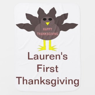Thanksgiving Plucked Turkey Custom Baby Blanket