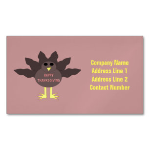 Thanksgiving business cards templates zazzle thanksgiving plucked turkey custom business cards colourmoves
