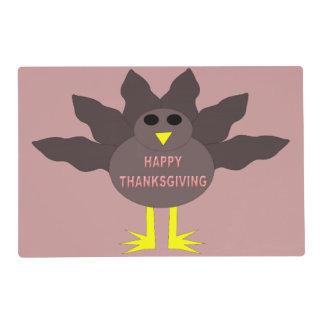 Thanksgiving Plucked Turkey Custom Placemat