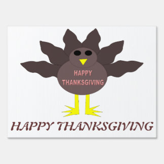 Thanksgiving Plucked Turkey Custom Sign