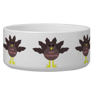 Thanksgiving Plucked Turkey Pet Bowl