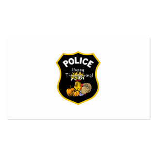 Thanksgiving Police Business Card
