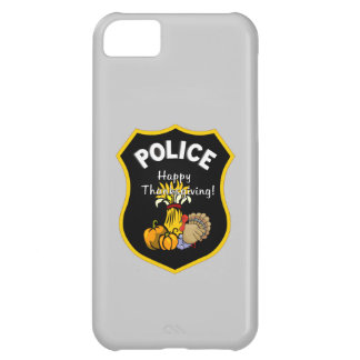Thanksgiving Police iPhone 5C Cases