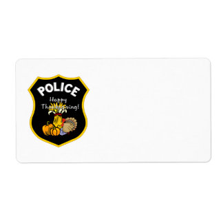 Thanksgiving Police Label
