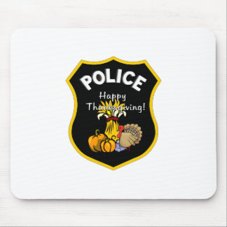 Thanksgiving Police Mouse Pad