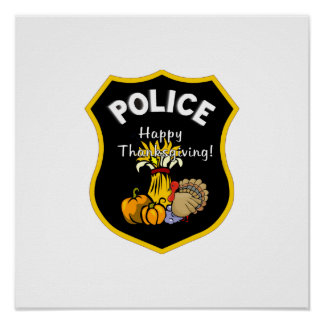 Thanksgiving Police Print