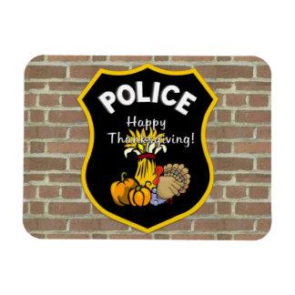 Thanksgiving Police Rectangular Photo Magnet