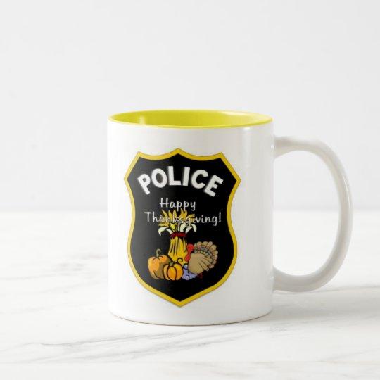 Thanksgiving Police Two-Tone Coffee Mug
