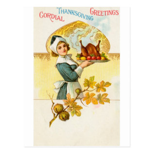 Thanksgiving Postcard at Zazzle