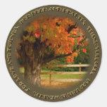 Thanksgiving Prayer (s3) Round Stickers