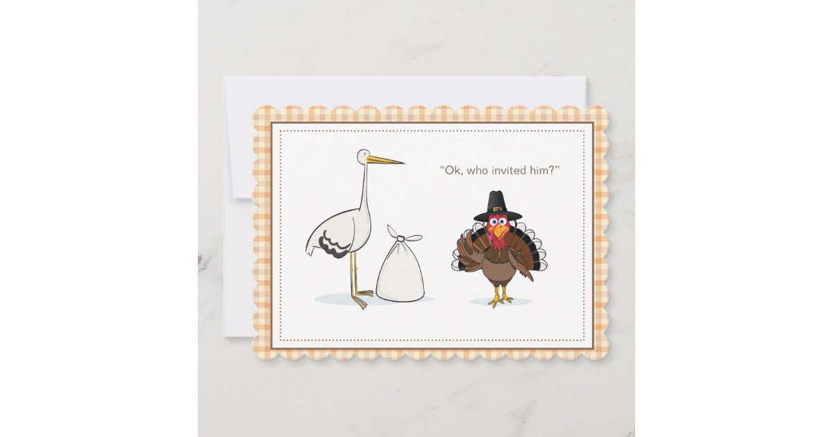 thanksgiving pregnancy announcement card