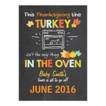 Thanksgiving pregnancy announcement Turkey