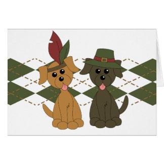 Thanksgiving Preppy Puppy Cards