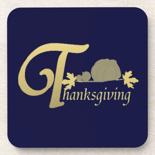 Thanksgiving - Psalm 100 Beverage Coasters