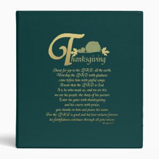 Thanksgiving - Psalm 100 Binder