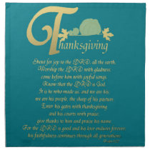 Thanksgiving - Psalm 100 Cloth Napkin