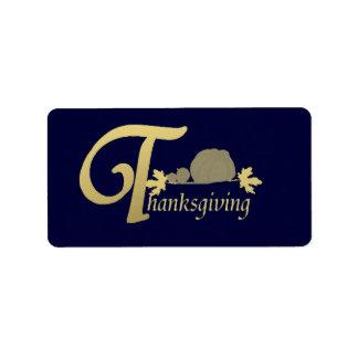 Thanksgiving - Psalm 100 Label