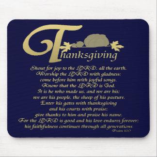 Thanksgiving - Psalm 100 Mousepad