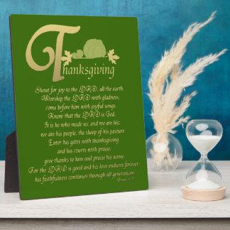 Thanksgiving - Psalm 100 Plaque