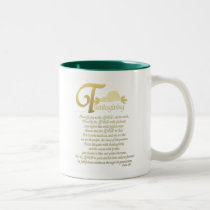 Thanksgiving - Psalm 100 Two-Tone Coffee Mug