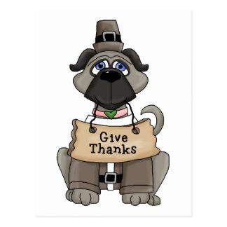 Thanksgiving Pug Dog Postcards
