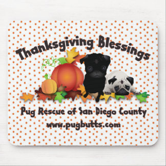Thanksgiving Pug Tees and Gifts - 4 styles Mouse Pad