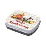 Thanksgiving Pugs and Pumpkins Jelly Belly Candy Tin
