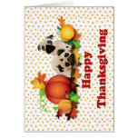 Thanksgiving Pugs and Pumpkins Cards