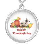 Thanksgiving Pugs and Pumpkins Pendants